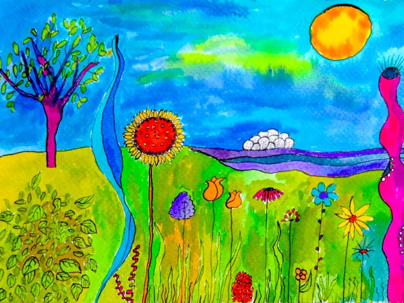 Kleurig schilderijtje