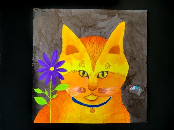 Kleurige kat